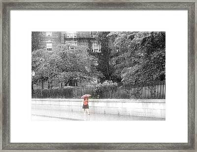 Rainy Day Framed Print by Julie Lueders