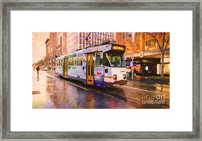 Rainy Day Melbourne Framed Print