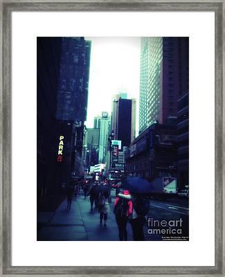 Rainy Day New York City Framed Print