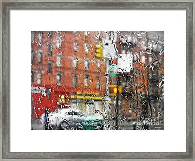 Rainy Day Nyc 2 Framed Print by Sarah Loft