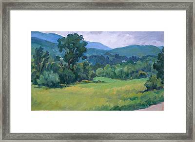 Rainy Day On Blair Road Williamstown Framed Print