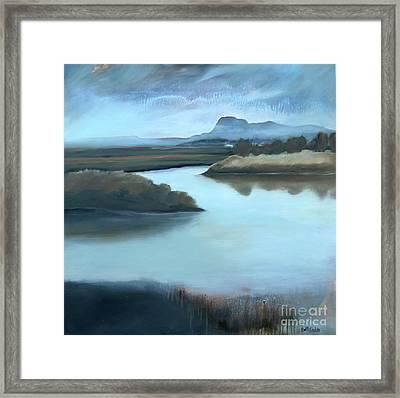 Rainy Day On Padilla Bay Framed Print