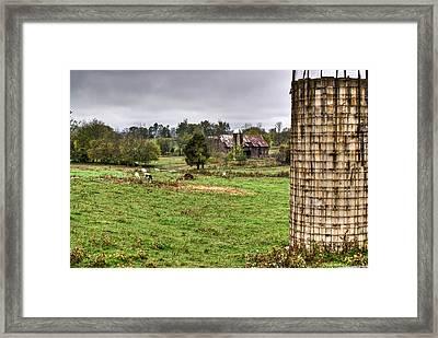 Rainy Day On The Farm Framed Print by Douglas Barnett