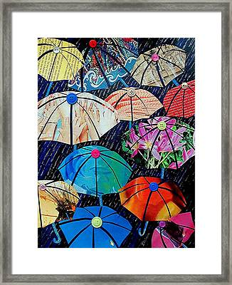 Rainy Day Personalities Framed Print by Susan DeLain