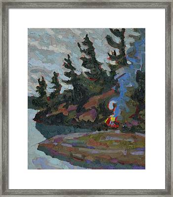 Rainy Day Pines Framed Print by Phil Chadwick