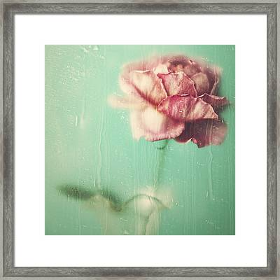 Framed Print featuring the photograph Rainy Day Romance by Amy Weiss