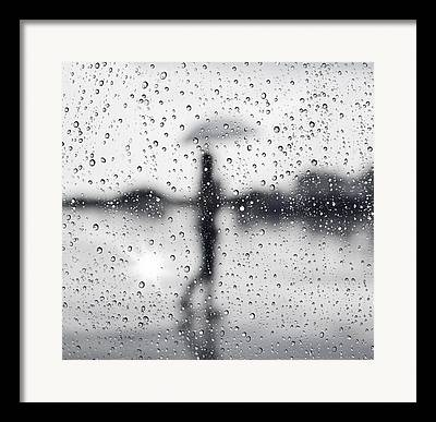 Wet Window Framed Prints