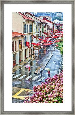 Rainy Day Singapore Framed Print