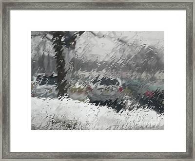 Rainy Day Framed Print by Valerie Morrison