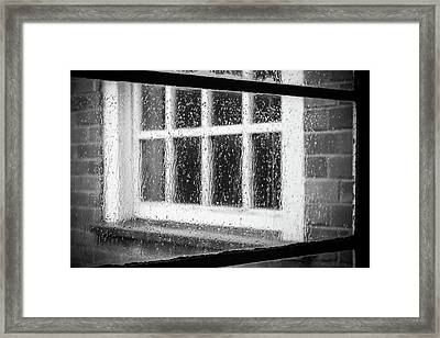 Rainy Day Window Framed Print