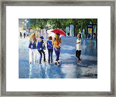 Framed Print featuring the painting Rainy Days And Mondays by Judy Kay