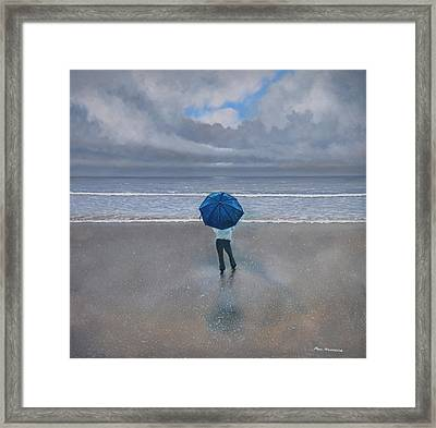 Rainy Days And Mondays Framed Print by Paul Newcastle