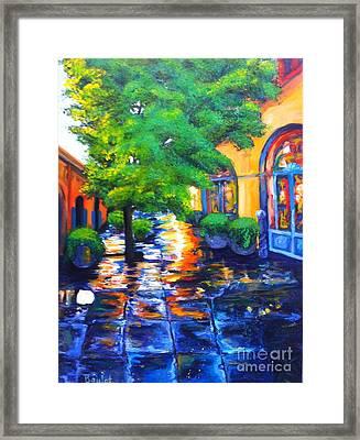 Rainy Dutch Alley Framed Print
