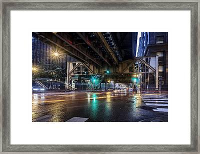 Rainy El Framed Print by CJ Schmit