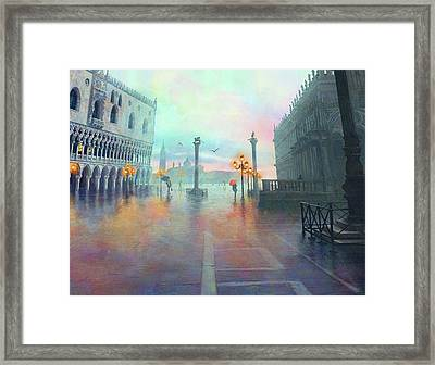 Rainy Evening In Venice Framed Print