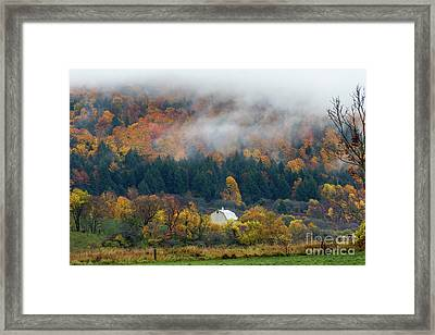 Rainy Fall Day Framed Print