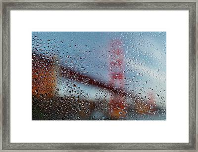 Rainy Golden Gate Framed Print by Steve Gadomski