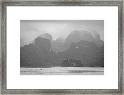 Rainy Ha Long Bay, Ha Long, 2014 Framed Print by Hitendra SINKAR