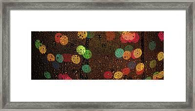 Rainy Lights Framed Print