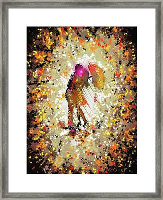 Rainy Love Framed Print