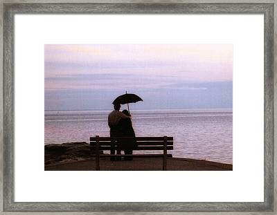 Framed Print featuring the photograph Rainy-may In Color by John Scates