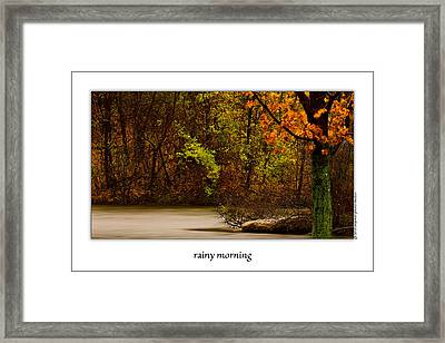 Rainy Morning Framed Print