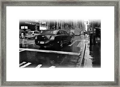 Rainy New York Day Framed Print by Vannetta Ferguson