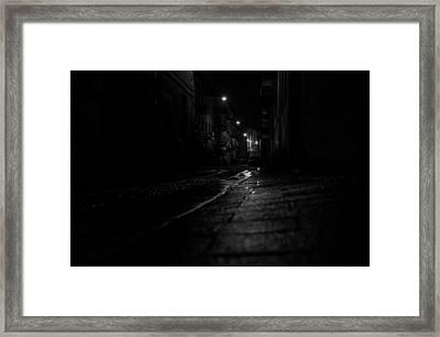 Rainy Night Framed Print by Cesare Bargiggia