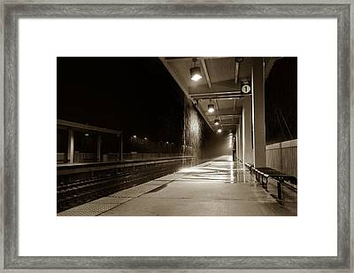 Rainy Night In Baltimore Framed Print