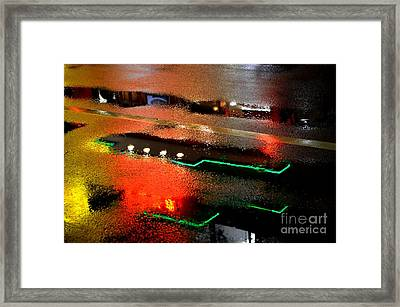 Rainy Night In Chinatown Framed Print