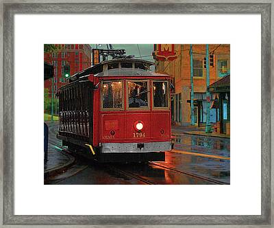 Rainy Night In Memphistenn Framed Print