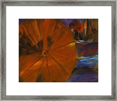 Rainy Night In The City Framed Print by Pamela Goedhart