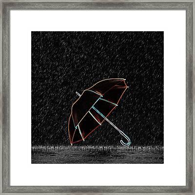 Rainy Night  Framed Print by Art Spectrum