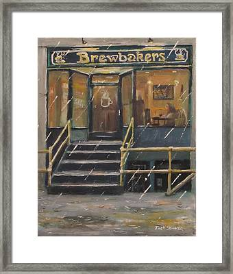 Rainy November Afternoon Coffee Framed Print