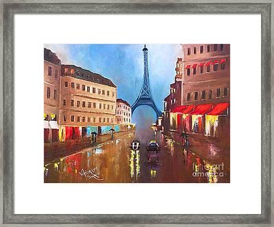 Rainy Paris Framed Print