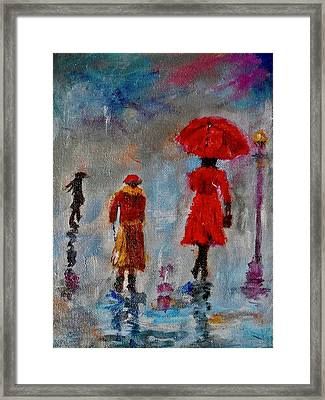 Framed Print featuring the painting Rainy Spring Day by Sher Nasser