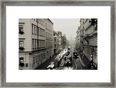 Rainy Start Of New Day Framed Print
