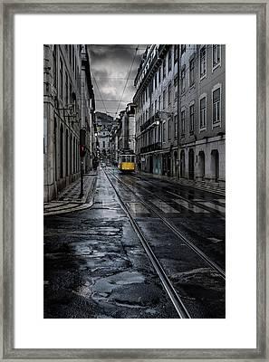 Rainy Street Framed Print by Jorge Maia