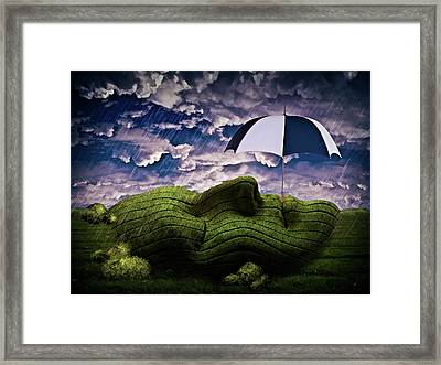 Rainy Summer Day Framed Print by Mihaela Pater