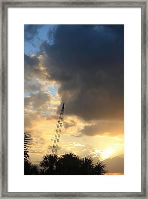 Rainy Sunset Framed Print by Mandy Shupp