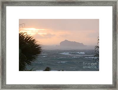 Rainy Xmas Sunrise Framed Print