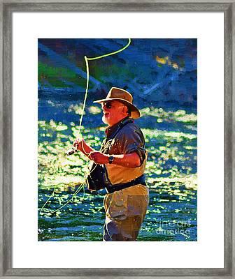 Raising Cane Framed Print by Diane E Berry