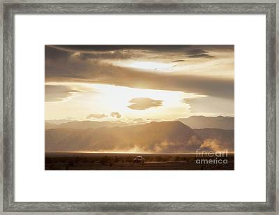 Raising Dust In Death Valley Framed Print by Colin and Linda McKie