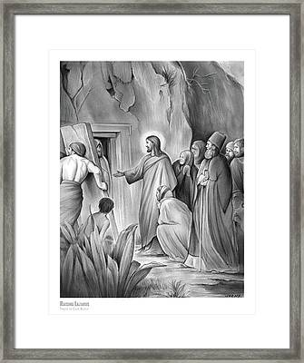 Raising Lazarus Framed Print