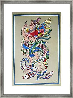 Raj Hanshi Fish Framed Print by Rabindra Meher