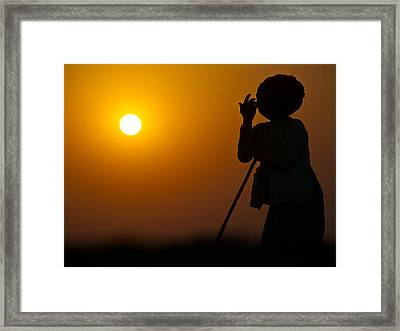 Rajasthan Silhouette Framed Print