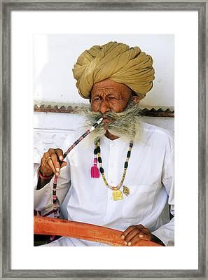 Rajasthani Elder Framed Print by Michele Burgess