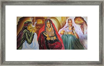 Rajasthani Ladies Framed Print