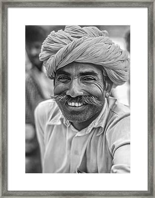 Rajput High School Teacher Bw Framed Print by Steve Harrington
