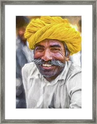 Rajput High School Teacher - Paint Framed Print by Steve Harrington